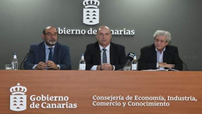 Vicente Marrero, Pedro Ortega y José Luis Guersi