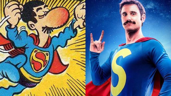 Dani Rovira caracterizado como Superlópez en la adaptación cinematográfica