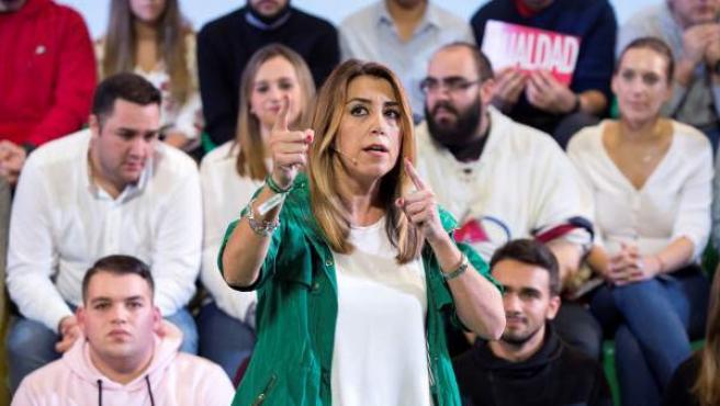 La secretaria general del PSOE de Andalucía, presidenta de la Junta de Andalucía y candidata a la reelección en las próximas elecciones andaluzas, Susana Díaz.