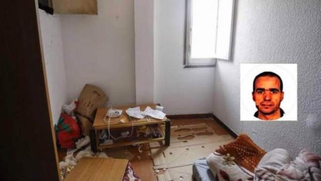 Habitación del domicilio del imán de Ripoll, Abdelbaki Es Satty, supuesto cerebro de la célula terrorista de Cataluña.