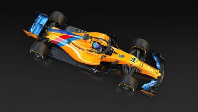 Así lucirá el coche de Fernando Alonso en su última carrera en la Fórmula 1.
