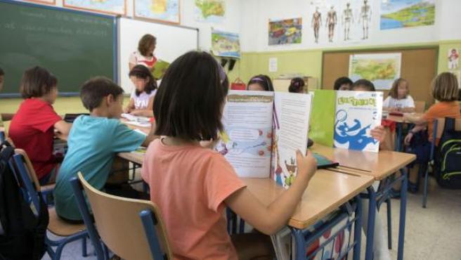 Alumnos en un colegio de Andalucía.