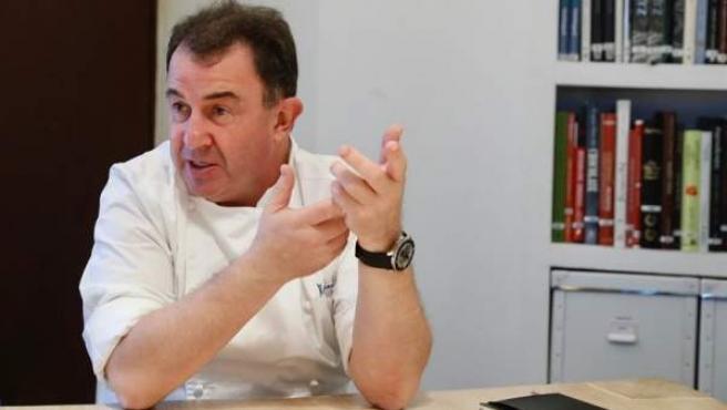 El cocinero vasco Martín Berasategui, en su restaurante de la localidad guipuzcoana de Lasarte.