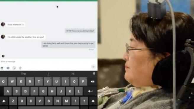 Una interfaz cerebro-ordenador permite a personas paralizadas usar una tableta.