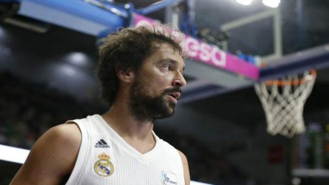 El jugador del Real Madrid de baloncesto, Sergio Llull