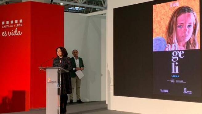 La consejera de Cultura presenta el cartel de Las Edades del Hombre en Lerma