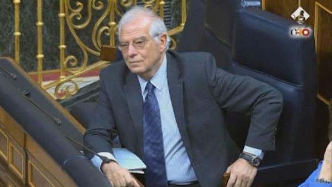 Borrell, en el Congreso.