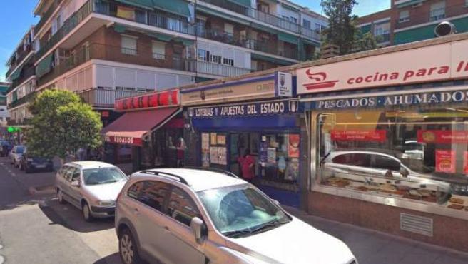 Imagen de la calle Boltaña, en el distrito madrileño de Canillejas.