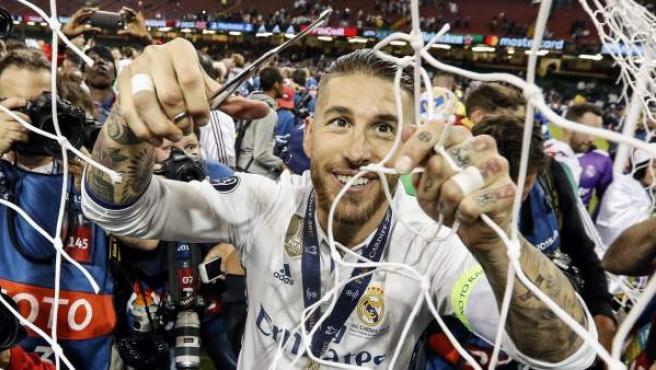 Sergio Ramos, tras la final de la Champions de 2017.