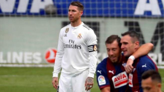 Sergio Ramos, en el partido del Real Madrid ante el Eibar