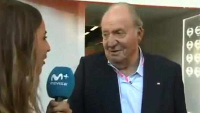 Don Juan Carlos I asistió al GP de Abu Dhabi de Fórmula 1.