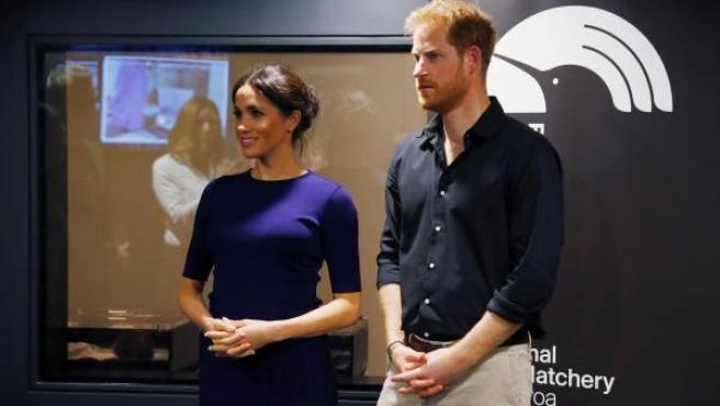 El príncipe Harry y Meghan Markle, durante su viaje en octubre a Nueva Zelanda.
