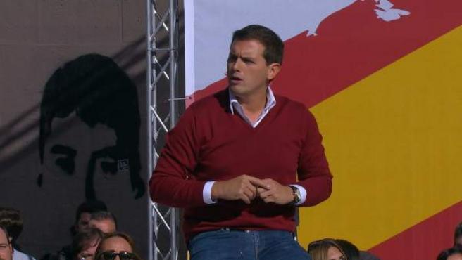 Albert Rivera, durante el acto de España Ciudadana en Alsasua.