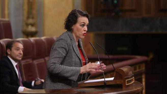 La ministra de Trabajo, Magdalena Valerio, en el Congreso.