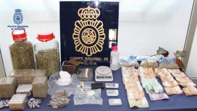 Operativo contra tráfico de drogas