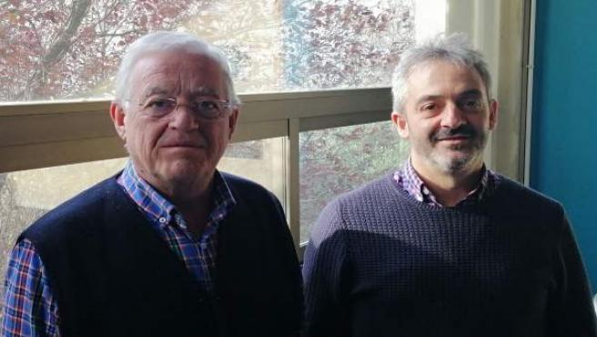 Julio Muro e Inazio Irigoien, investigadores de la UPNA