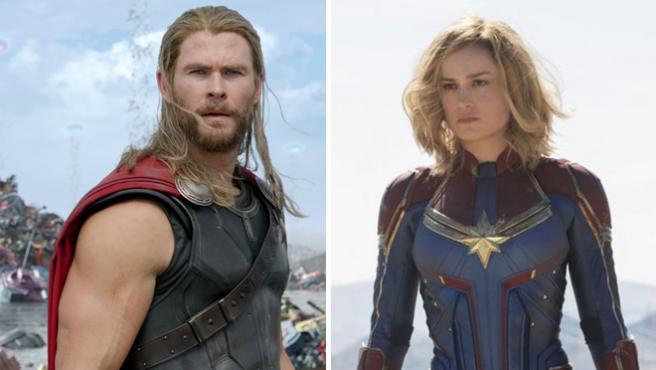 Así enseña Brie Larson ('Capitana Marvel') a Chris Hemsworth ('Thor') cómo se usa un martillo