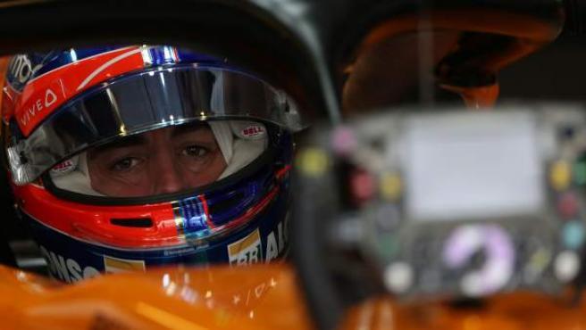 Fernando Alonso, durante el GP de Abu Dhabi.