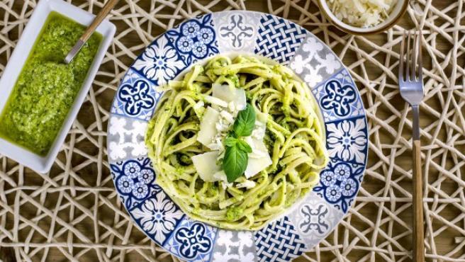 Receta Tradicional Italiana De Pasta Al Pesto