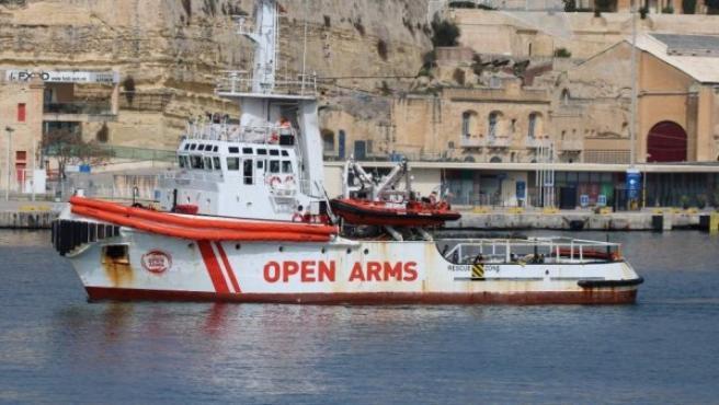 El barco de la ONG 'Open Arms', en una imagen de archivo.