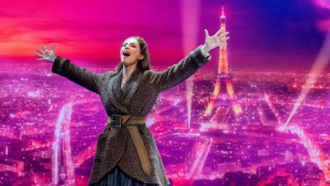 Jana Gómez en una escena del musical de Stage Entertainment Anastasia.