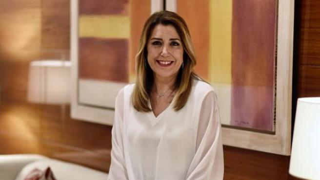 Susana Díaz, candidata del PSOE-A a reeditar su cargo como presidenta de la Junta.