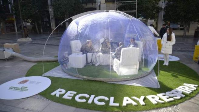 Campaña de reciclaje y aire puro en Granada