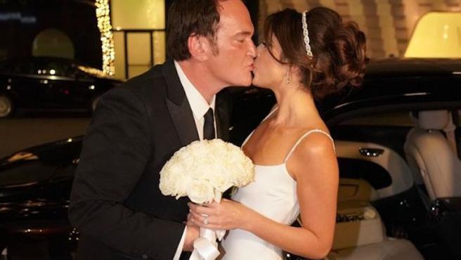 Así fue la boda sorpresa de Quentin Tarantino con Daniella Pick
