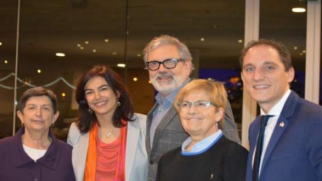 Teresa Cuniller y Maria José Rienda con Fèlix Larrosa, M.Parra y J.Crespín