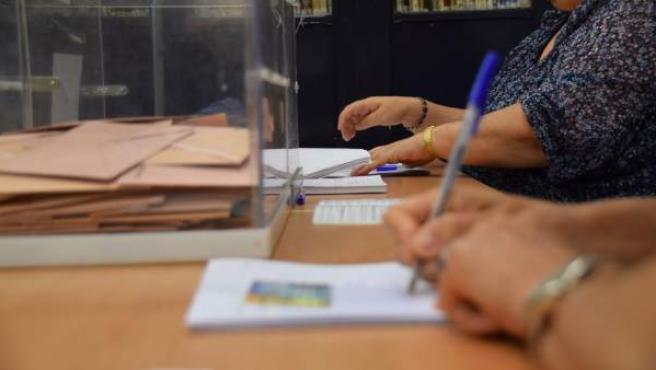 Un colegio electoral en Andalucía.