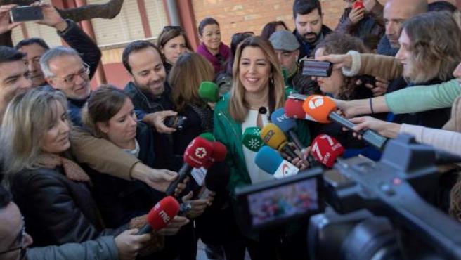 Susana Díaz, en las Elecciones de Andalucía 2018.