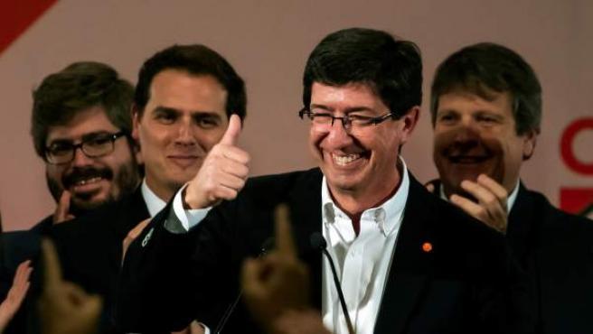 El candidato de Ciudadanos a la Presidencia de la Junta, Juan Marín.