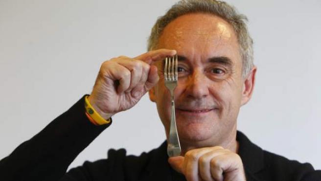 El cocinero Ferrán Adriá.