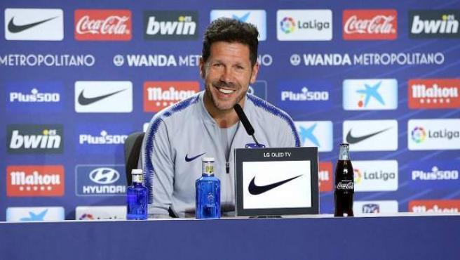 El entrenador del Atlético de Madrid, Diego Pablo Simeone