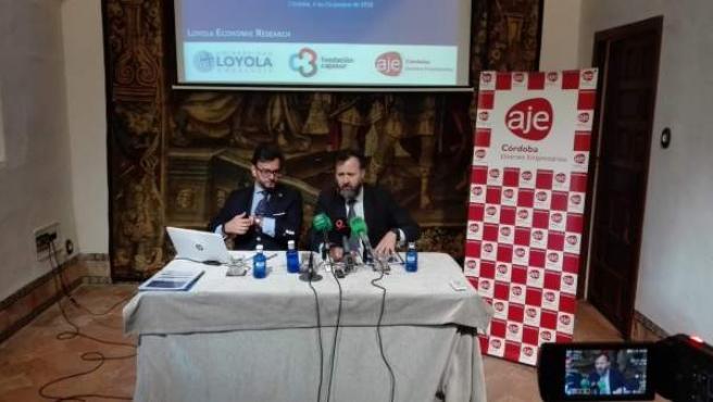 Cardenete y Castejón en la presentación del estudio