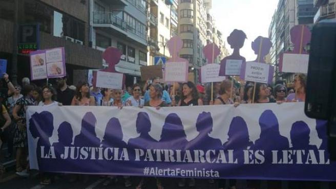 Manifestación en València contra 'La Manada'