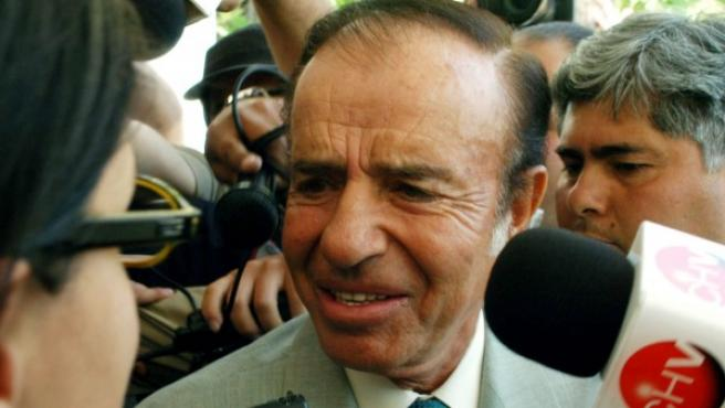 El expresidente argentino Carlos Menem, en una imagen de archivo.