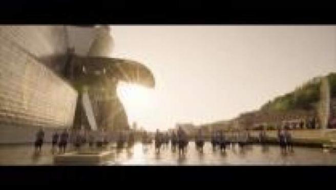 Imagen del Guggenhiem en el vídeo grabado con la coral