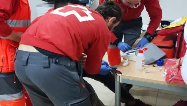 Asistencia de Cruz Roja a los inmigrantes