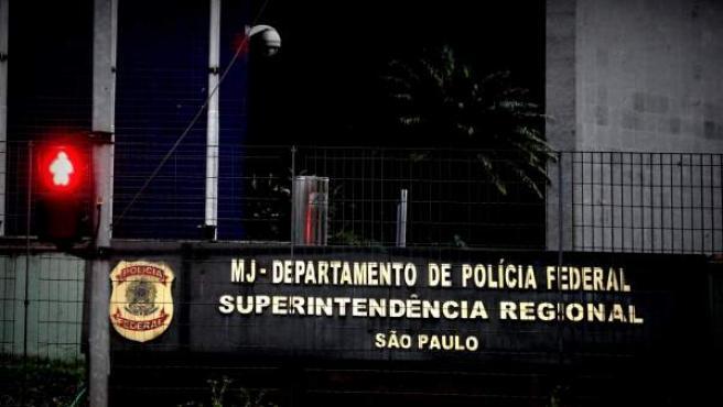 Vista general de la sede de la Policía Federal en Sao Paulo (Brasil).