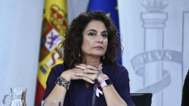 Montero, en rueda de prensa tras un Consejo de Ministros.
