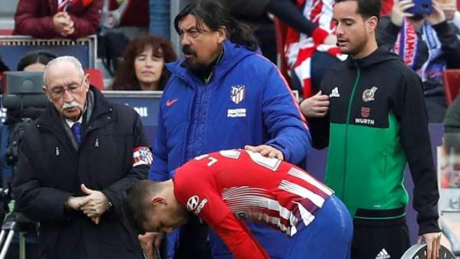 Lucas Hernández, lesionado ante el Alavés.
