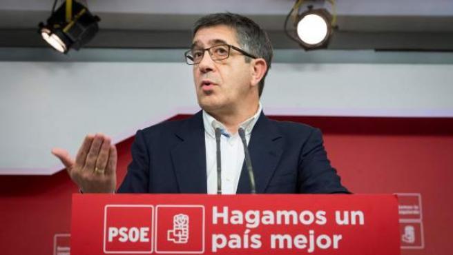 Patxi López, exlehendakari y secretario de Política Federal del PSOE.