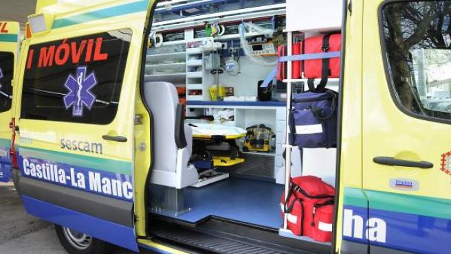 UVI movil, ambulancia, transporte sanitario, SESCAM