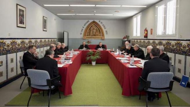 Obispos en la reunión de la Conferencia Episcopal Tarraconense.