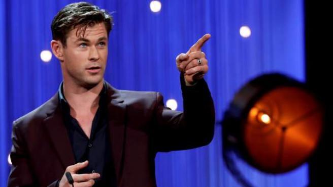 El actor australiano Chris Hemsworth ha presentado en San Sebastián 'Malos tiempos en el Royale', un thriller criminal que ha clausurado la 66 edición del certamen.