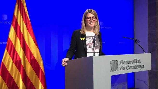 La conseller a de Presidencia y portavoz del Govern, Elsa Artadi.