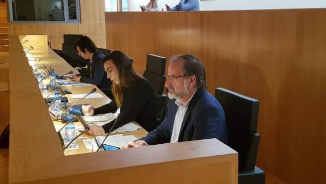 Gonzalo Sichar en un imagen en el pleno