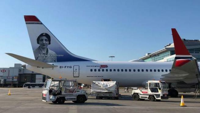 Aerolinea avión norwegian pensadora veleña maría zambrano oslo