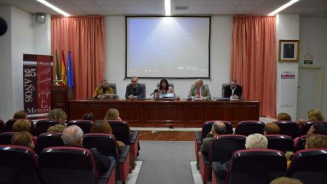 Conferencia en el campus de La Merced.